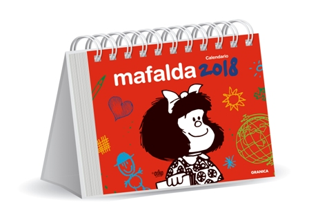 Calendario Mafalda 2018 (rojo)
